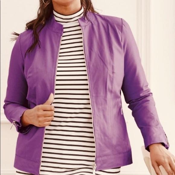 Jessica London Jackets & Blazers - NWT 18W (16W) Plus Size Genuine leather jacket